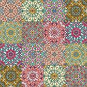 Adesivo  de Azulejo Boho Flores Coloridas