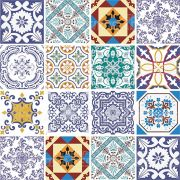 Adesivo de Azulejo Português Tons de Azul