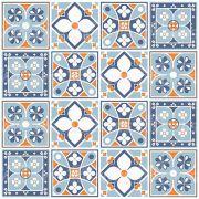 Adesivo de Azulejo Português Flores Azuis
