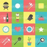Adesivo de Azulejo Utensílios de Cozinha