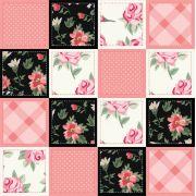Adesivo de Azulejo Floral Rosa