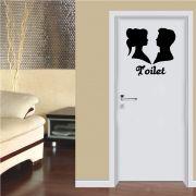 Adesivo de Parede Banheiro Toilet Unissex