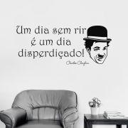 Adesivo de Parede Frase Charlie Chaplin