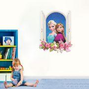 Adesivo de Parede Janela Elsa e Anna