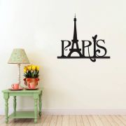 Adesivo de Parede Love Paris Amo