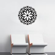 Adesivo de Parede Mandala Floral