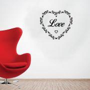 Adesivo de Parede Coração Escrito Love