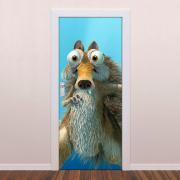 Adesivo de Porta A Era do Gelo Sid