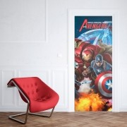 Adesivo de Porta Avengers Homem de Ferro e Capitão América