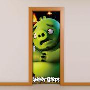 Adesivo de Porta Angry Birds Leonard