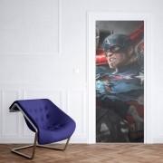 Adesivo de Porta Avengers Capitão América