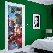 Adesivo de Porta Avengers Hulk Viúva e Iron