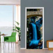 Adesivo para Porta Cachoeira Azul