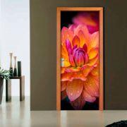Adesivo de Porta Flor de Lotus Vermelho