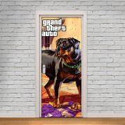 Adesivo de Porta GTA Cachorro Chop Franklin Game