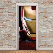 Adesivo de Porta Iron Man Máscara