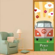 Adesivo de Porta Kombi Paz e Amor