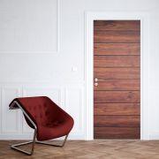 Adesivo de Porta Madeira Deck Cool Vintage Marrom