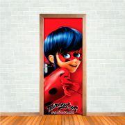 Adesivo de Porta Miraculous Ladybug Vermelho
