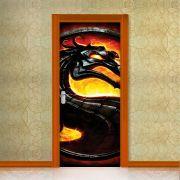 Adesivo de Porta Mortal Kombat