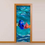 Adesivo de Porta Procurando Nemo e Dory