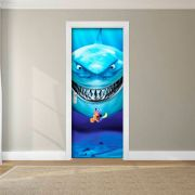 Adesivo de Porta Procurando Nemo Bruce