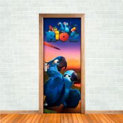 Adesivo de Porta Filme Rio Arara Blue