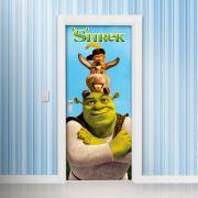 Adesivo de Porta Shrek e o Burro