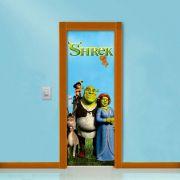 Adesivo de Porta Shrek com Personagens