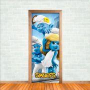 Adesivo de Porta Smurfs