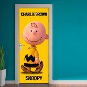 Adesivo de Porta Snoopy Charlie Brown