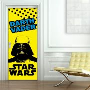 Adesivo de Porta Star Wars Darth Vader Preto