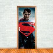 Adesivo de Porta Superman Super Homem Azul