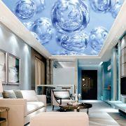 Adesivo Decorativo de Teto Bolhas Azuis
