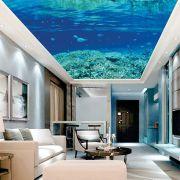 Adesivo Decorativo de Teto Fundo do Mar Azul