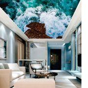 Adesivo Decorativo de Teto Ondas do Mar