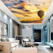 Adesivo Decorativo de Teto Pôr do Sol com Balão