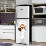 Adesivo de Geladeira Chefe de Cozinha Cozinheira
