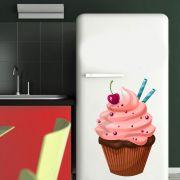 Adesivo de Geladeira Bolo Cupcake