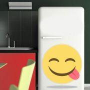 Adesivo de Geladeira Emoji Língua pra Fora