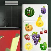 Adesivo de Geladeira Frutas Melancia Pera