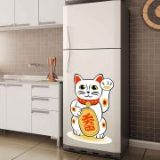 Adesivo de Geladeira Gato Japonês