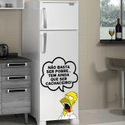 Adesivo de Geladeira Homer Simpsons