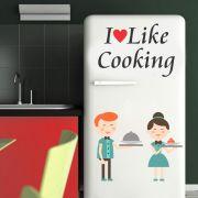Adesivo de Geladeira Frase Eu Gosto de Cozinhar