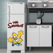Adesivo de Geladeira Os Simpsons Homer e Bart