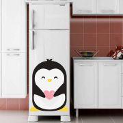 Adesivo de Geladeira Pinguim com Coração