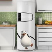 Adesivo de Geladeira Pinguim de Madagascar Feliz