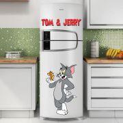 Adesivo de Geladeira Desenho Tom e Jerry