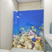 Adesivo de Box Fundo do Mar com Peixes Coloridos