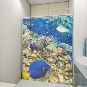 Adesivo de Box Fundo do Mar com Peixe Azul